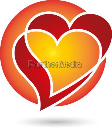 logo heart hearts