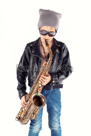 stylish saxophonist