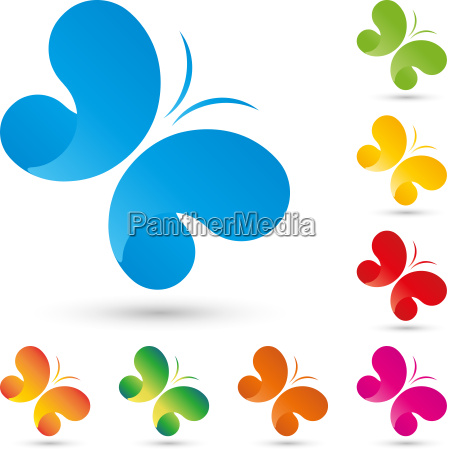 logo butterfly insect wellness