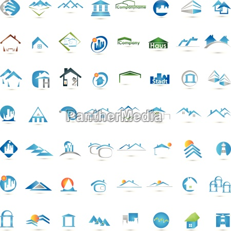 logo real estate houses roofs