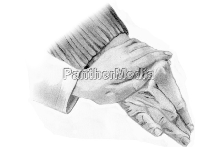elderly care hands