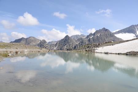 lakes in the stubai alps
