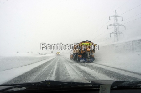 autobahn winter snow clearing winter service