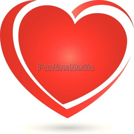 logo heart hearts icon