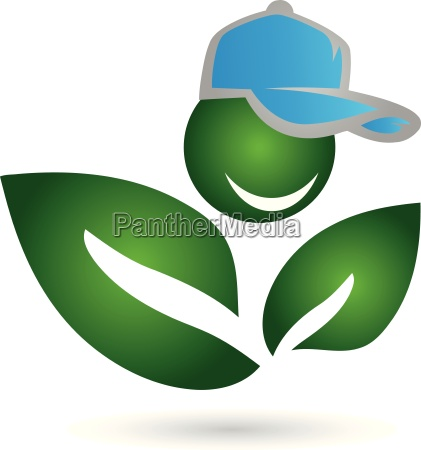 logo people leaves plant
