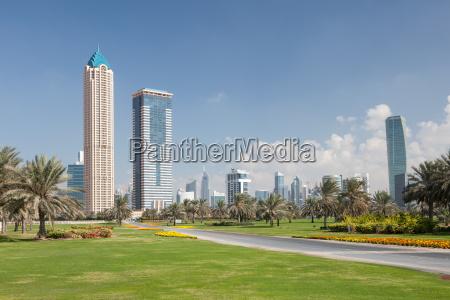 skyscrapers in the city of dubai