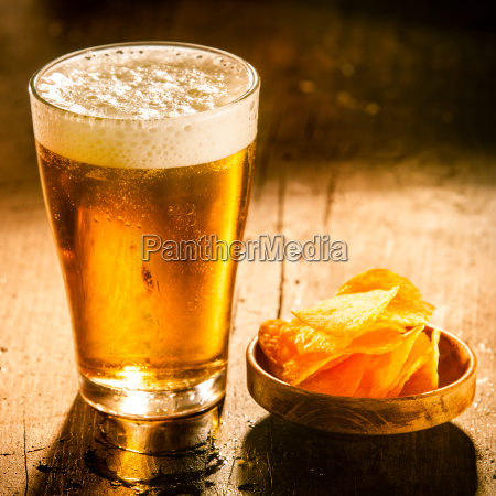 glass of refreshing cold beer with