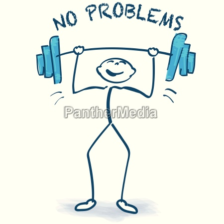 stick figure with weight lifting and