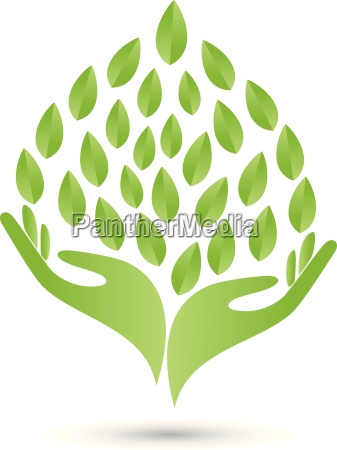 logo two hands leaves naturopaths