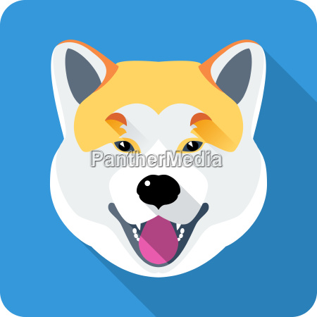 dog akita inu japanese breed icon