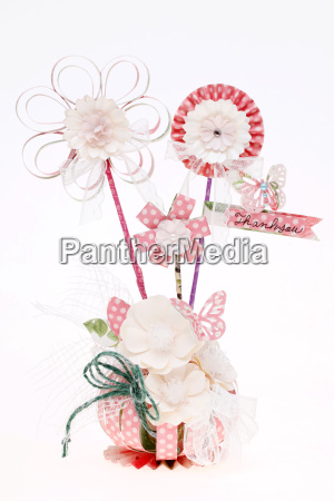 handmade flowers made from a variety