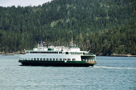 public ferry crossing the puget sound
