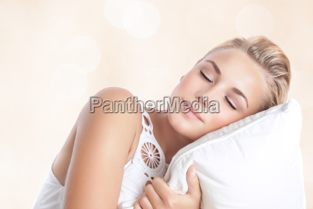 beautiful woman sleeping