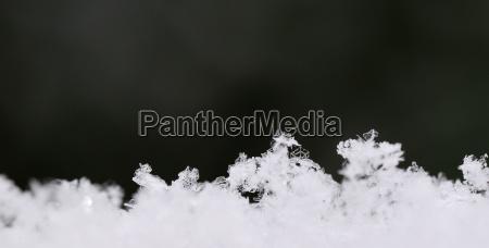 viele verschiedene schneekristalle panorama
