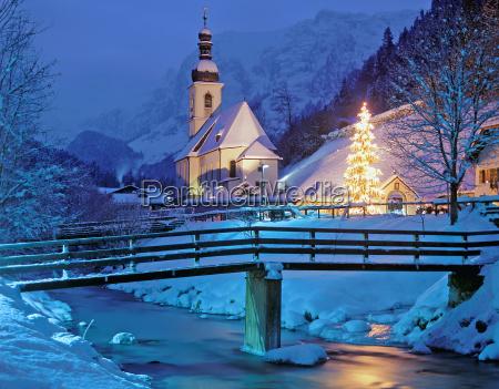 the christmas chapel of ramsau berchtesgaden