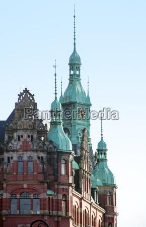 historic building detail in the speicherstadt