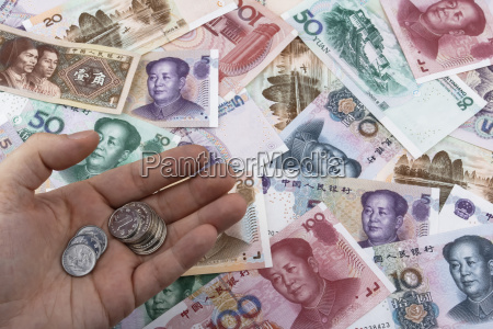 chinese money rmb notes and coins