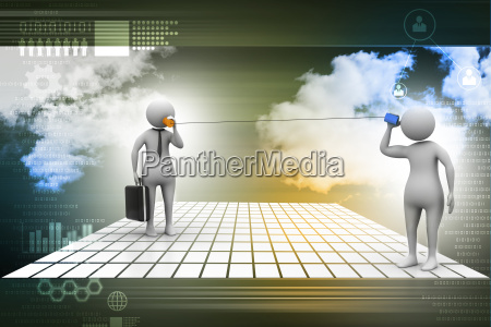 3d persons talking communication concept