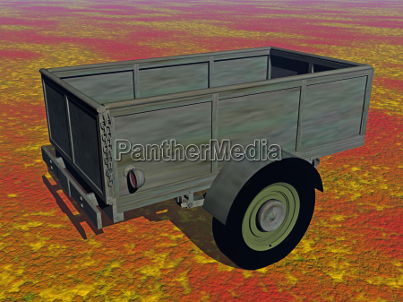 a single axle trailer with tailboard