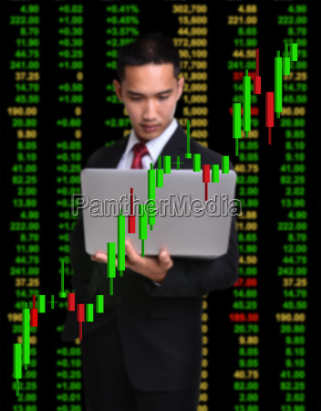 business man in tock investment concept