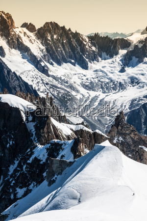 view on the alps from the