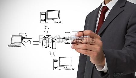 composite image of classy businessman