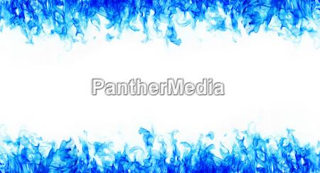 blue fire frames on white background