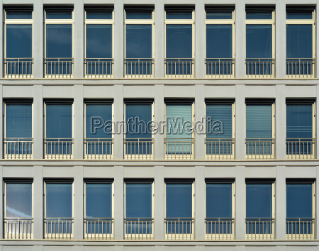 window front of an office building