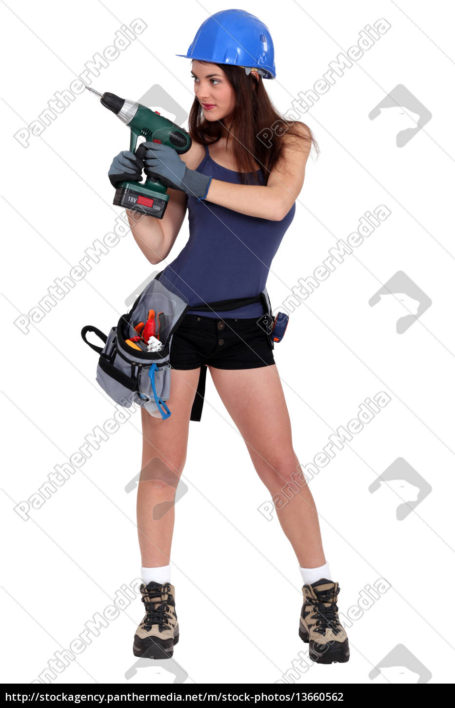 sexy, builder, with, drill - 13660562