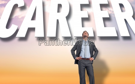 composite image of smiling businessman with