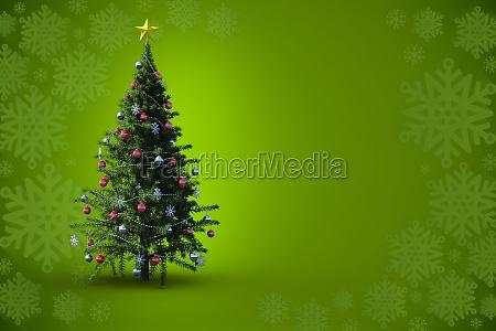 composite, image, of, christmas, tree - 13664096