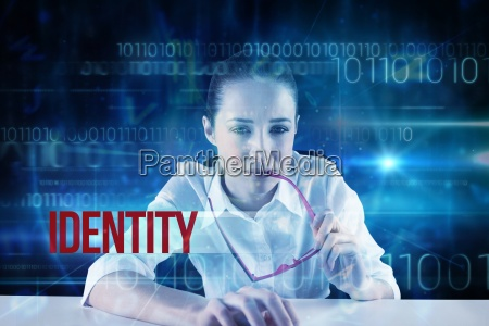 identity against blue technology design with