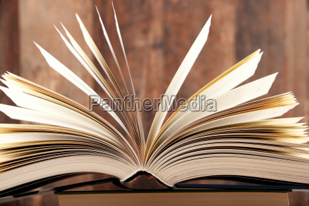 composition with hardcover book in the