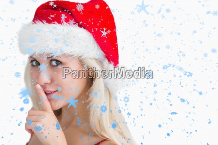 composite image of woman in santa
