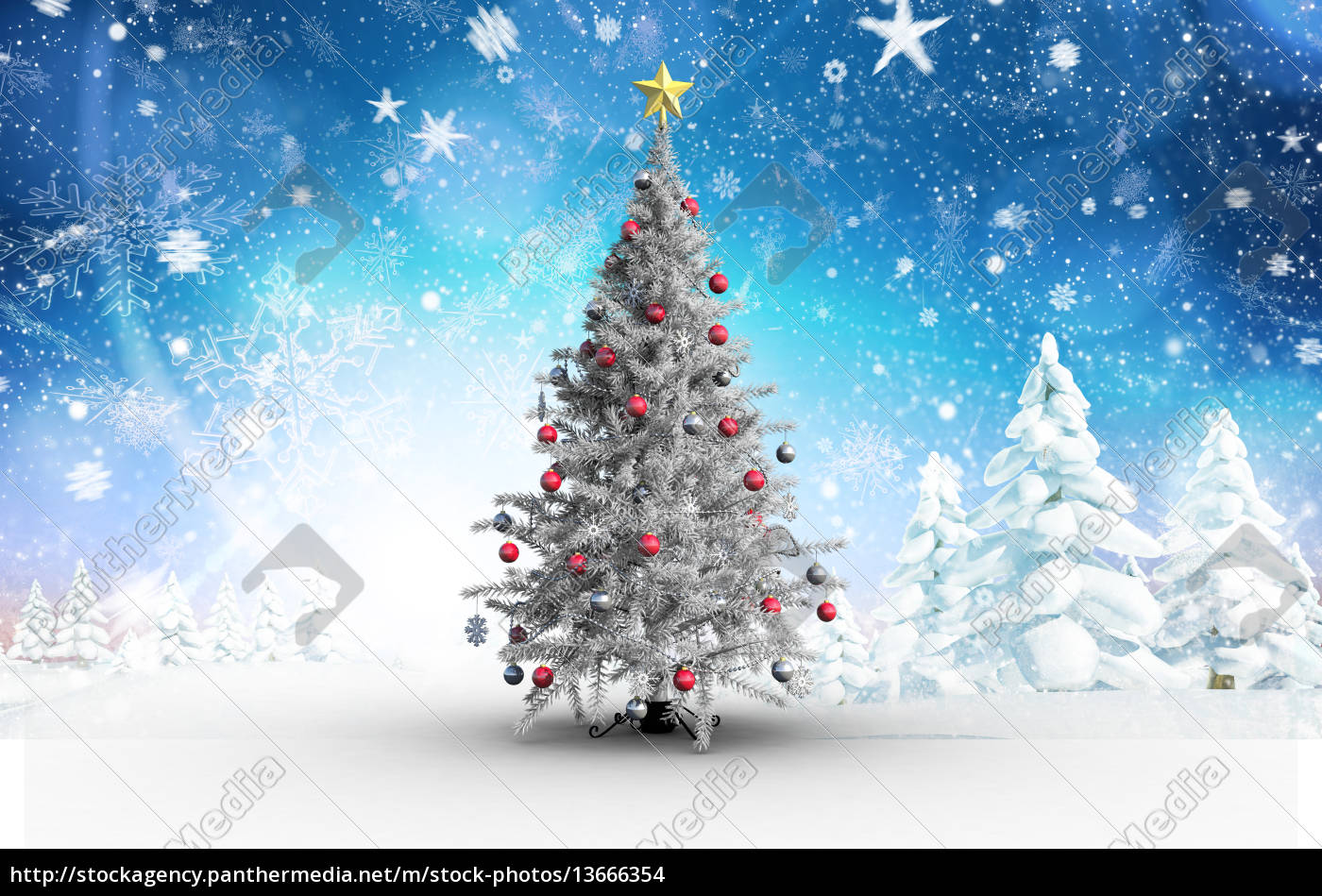 composite, image, of, christmas, tree, with - 13666354