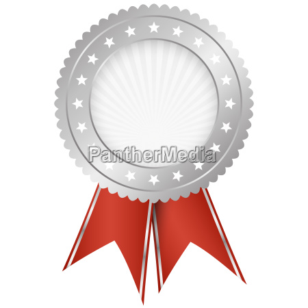 seal of quality silver with ribbons