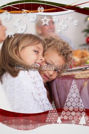 siblings joking with each other at