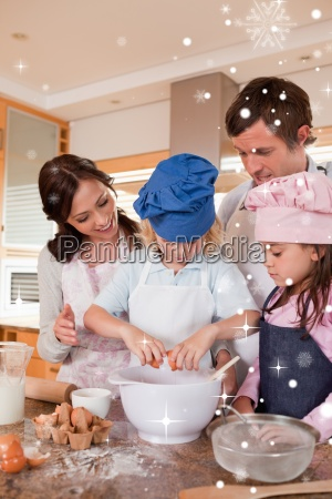 portrait, of, a, family, baking - 13670712