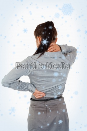 portrait of the painful back of