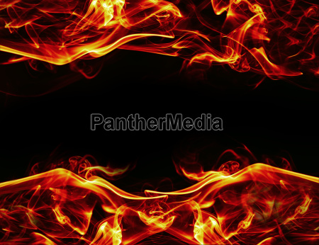 fire frame background on black background