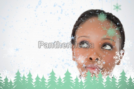 close up of womans face looking