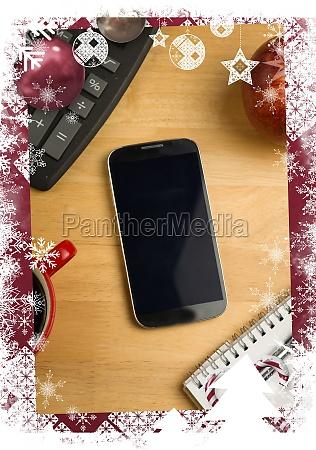 composite image of christmas themed frame