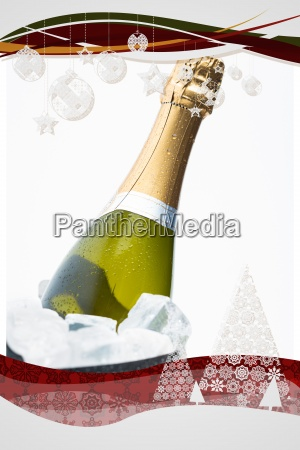 composite image of christmas frame