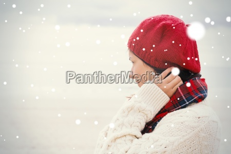 woman in knitted hat and pullover
