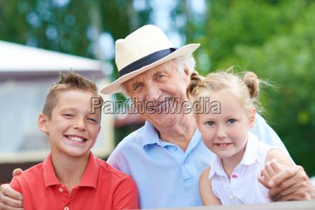 grandpa with children