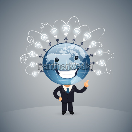 global idea vector illustration
