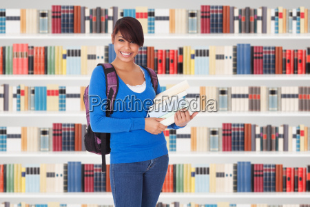 portrait of beautiful student girl with