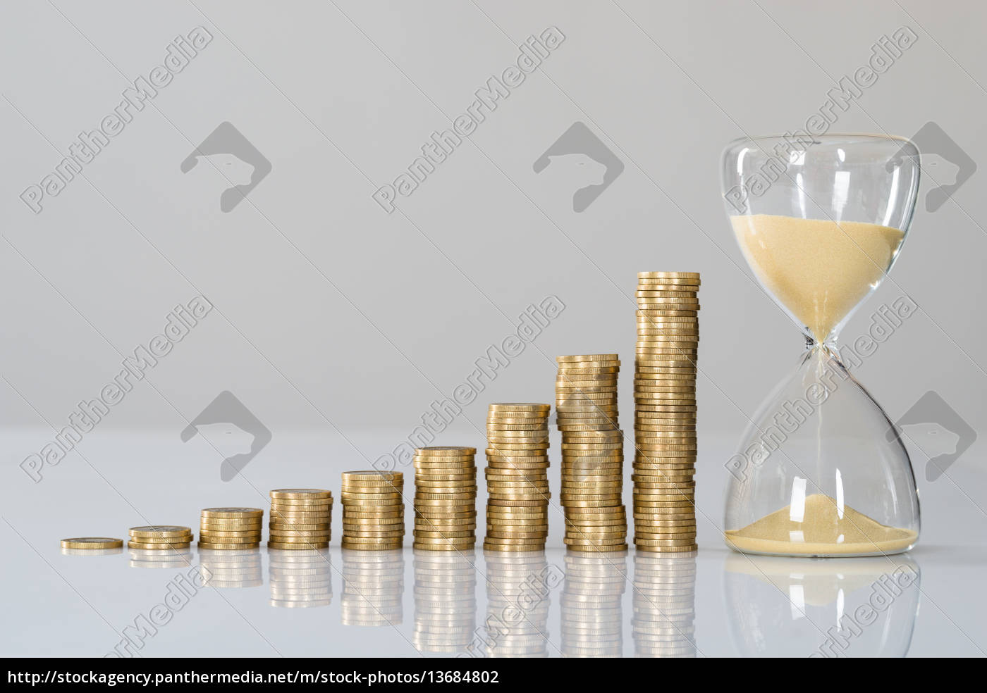 growth, chart, and, hourglass - 13684802