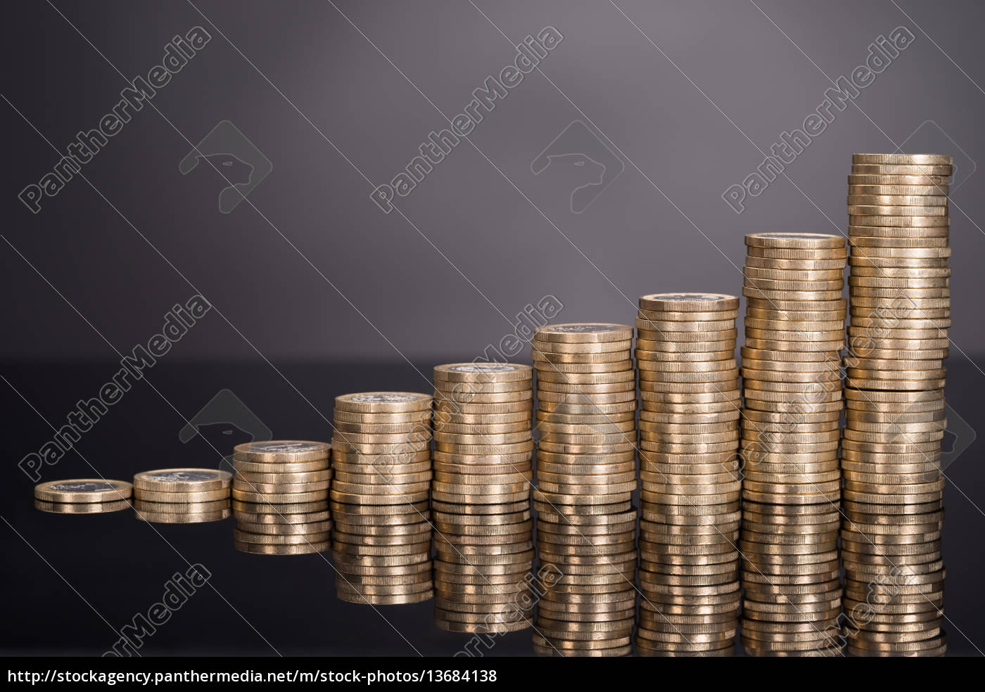growth, chart, made, from, coins - 13684138