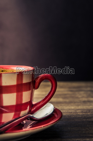 vintage style detail of coffee cup